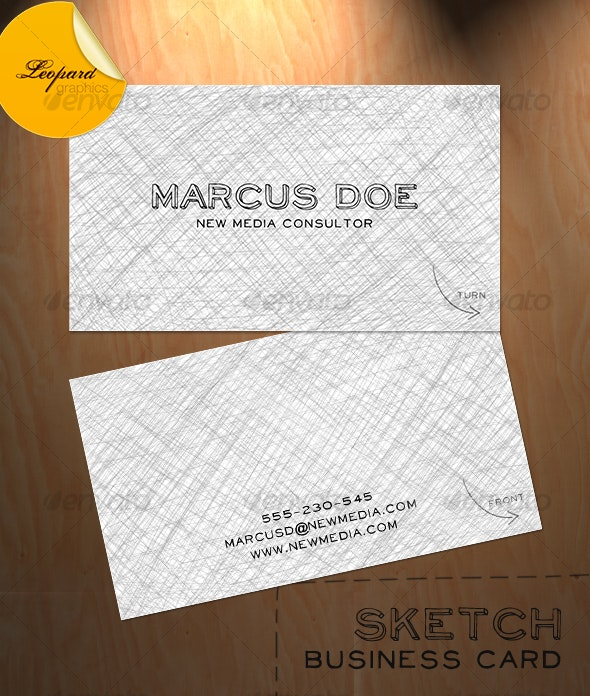 Sketch Business Card - Creative Business Cards