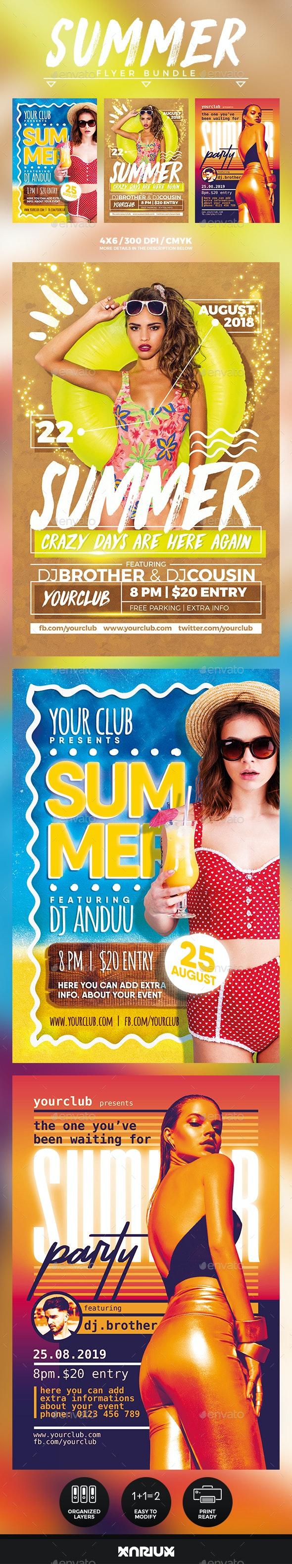 Summer Flyer Bundle - Events Flyers