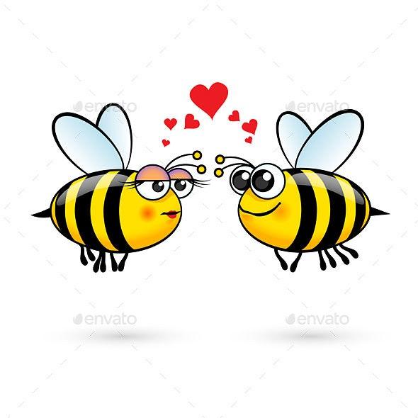 Cartoon Bees - Animals Characters