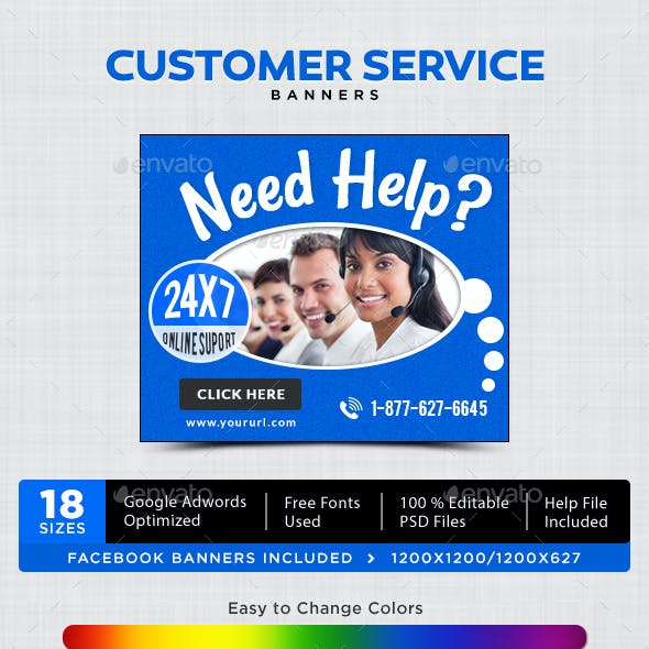 Customer Service Banners