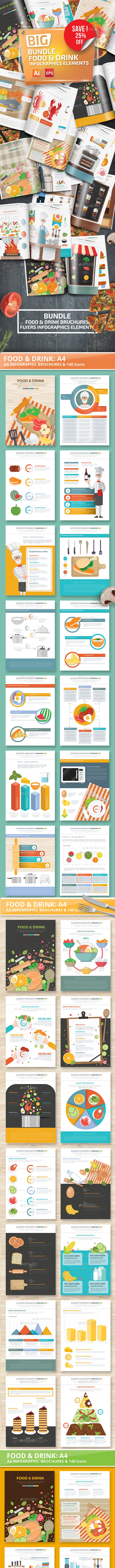 Bundle Food & Drink Infographics - Infographics
