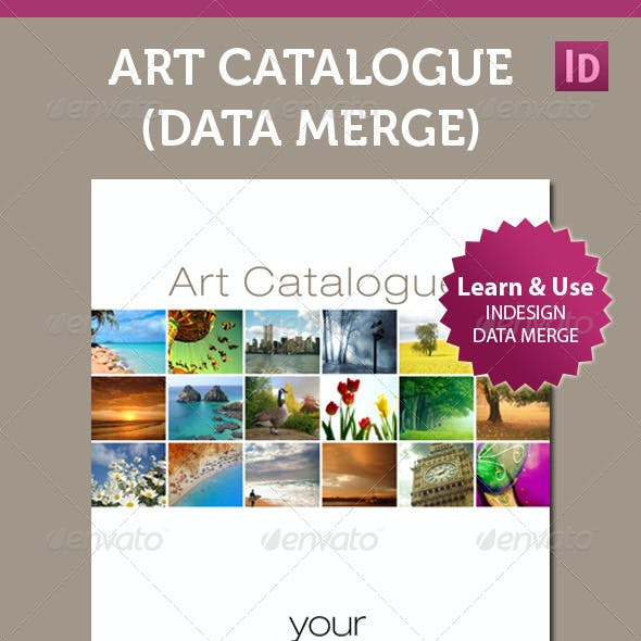 Art Catalogue Template For InDesign Data Merge