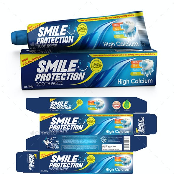 Toothpaste Packaging Template