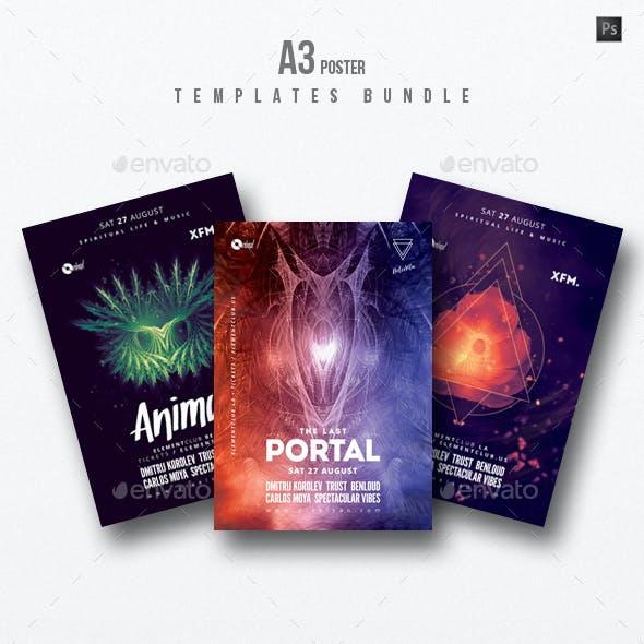 Progressive Sound vol.6 - Party Flyer / Poster Templates Bundle