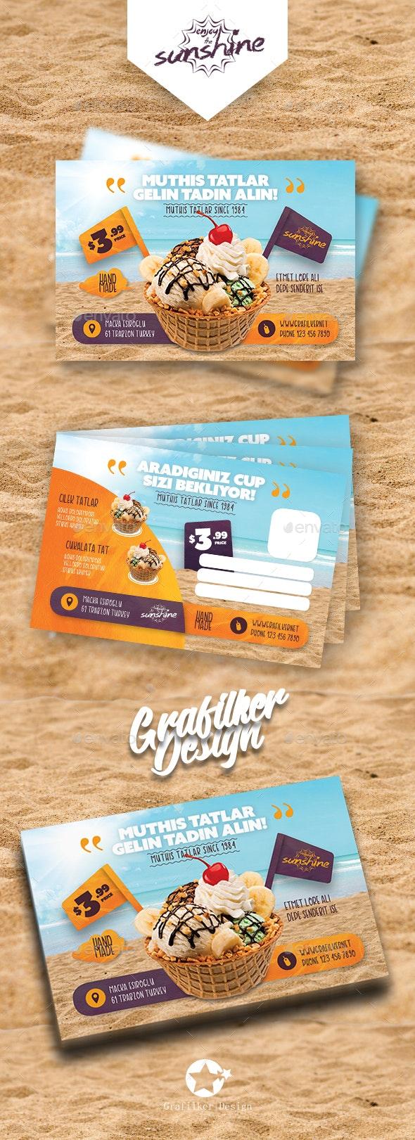 Ice Cream Postcard Templates - Cards & Invites Print Templates