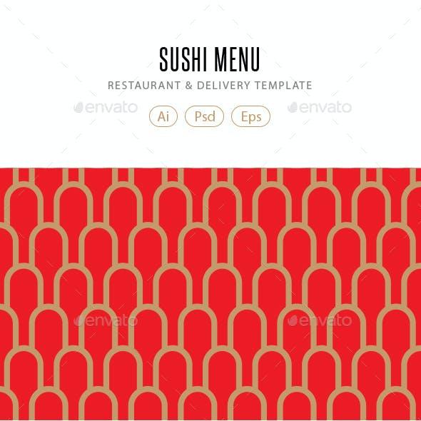 Sushi Food Menu Template