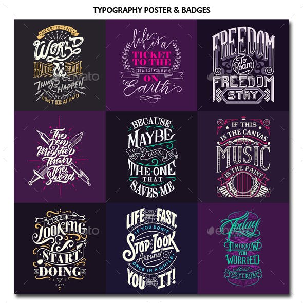 Typography Poster And Badges Vol 2