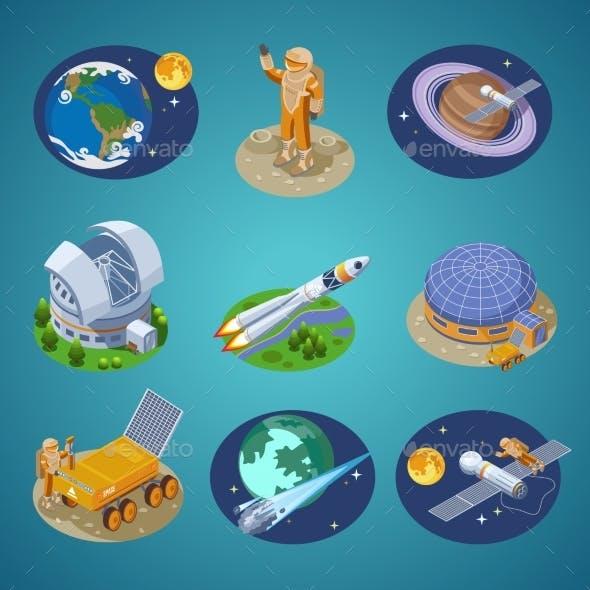 Isometric Space Elements Set