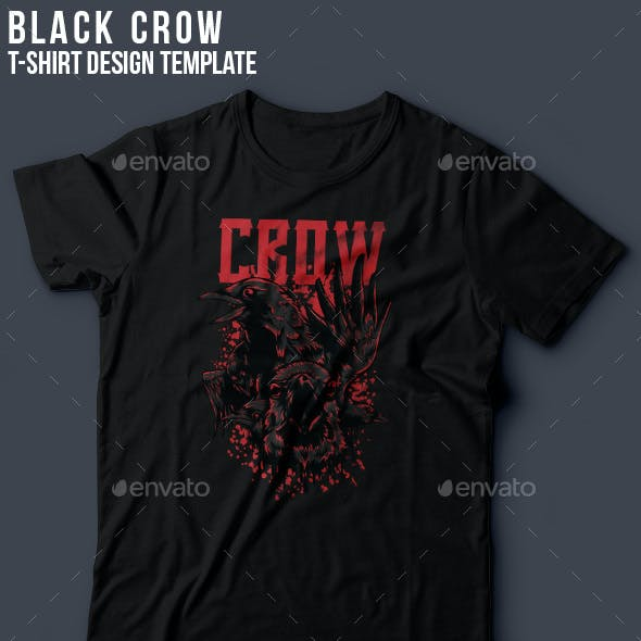 Black Crow T-Shirt Design