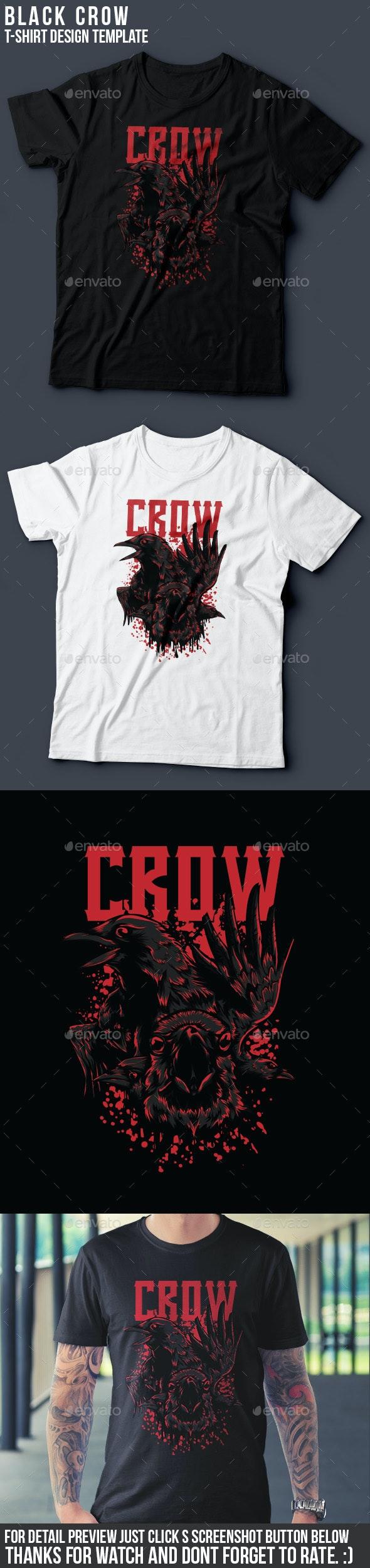 Black Crow T-Shirt Design