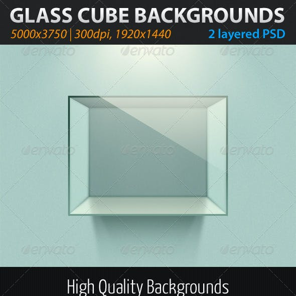 Glass Cube Backgrounds