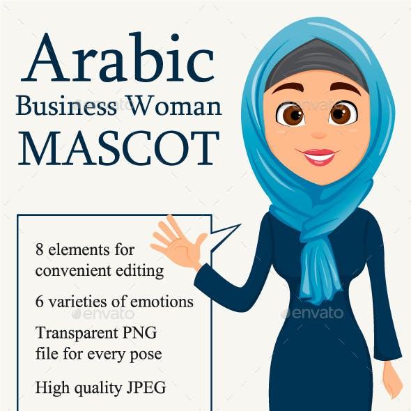 Mascot Arabic Business Woman