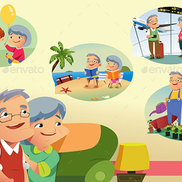 Senior Couple Thinking About Retirement Activities