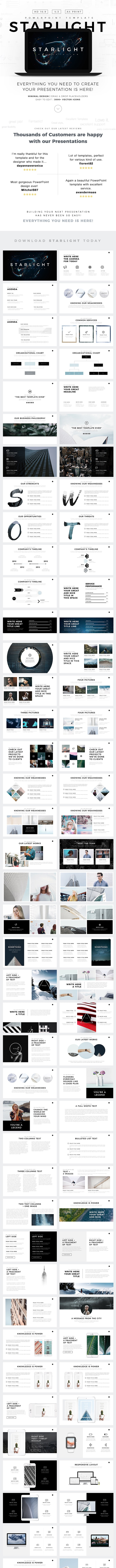 Starlight Minimal PowerPoint Template Pitch Deck - PowerPoint Templates Presentation Templates
