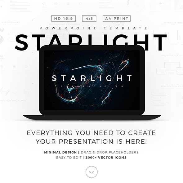 Starlight Minimal PowerPoint Template Pitch Deck