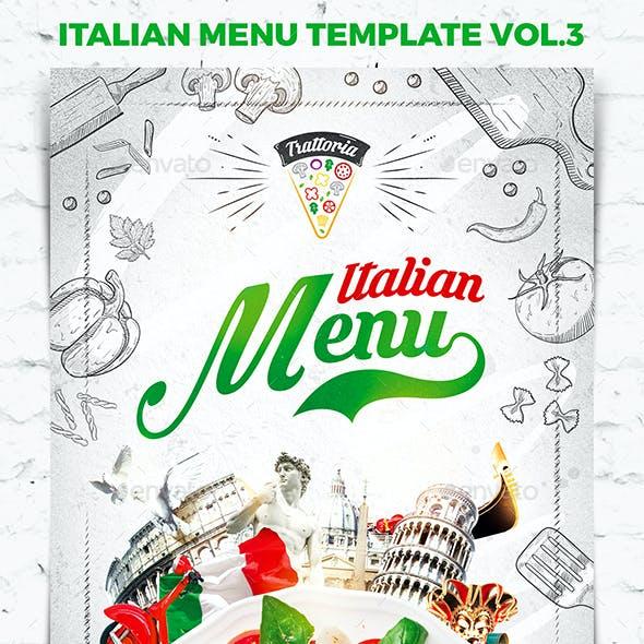 Italian Menu Template vol.3