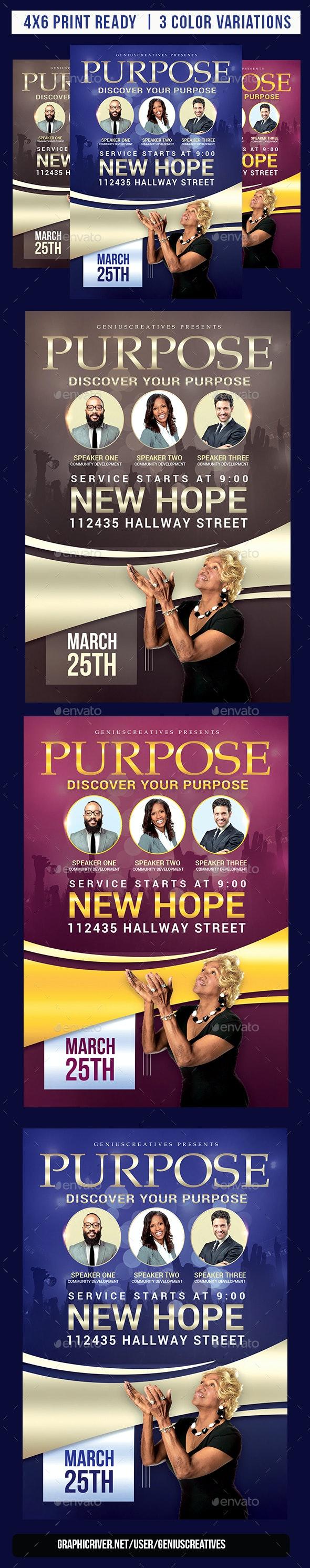 Purpose Church Flyer Template - Church Flyers