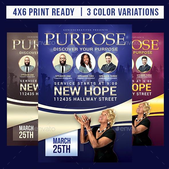 Purpose Church Flyer Template