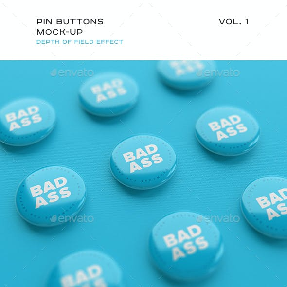 Pin Buttons Mock-up vol.1