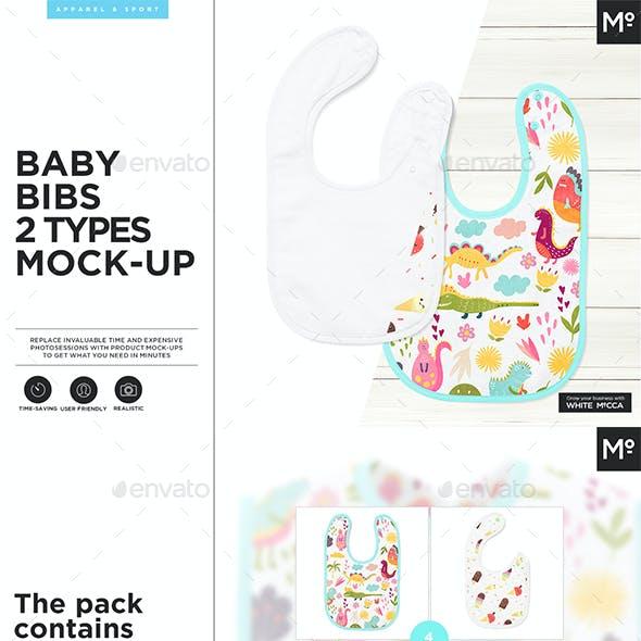 Baby Bibs 2 Types Mock-up