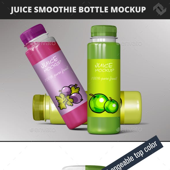 Smoothie Juice  Bottle Mockup