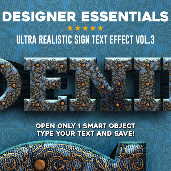 Designer Essentials Ultra Realistic Text Effect Vol.3