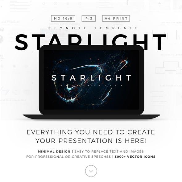 Starlight Minimal Keynote Template Pitch Deck