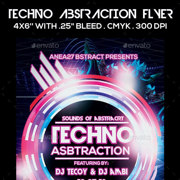 Techno Abstraction Flyer