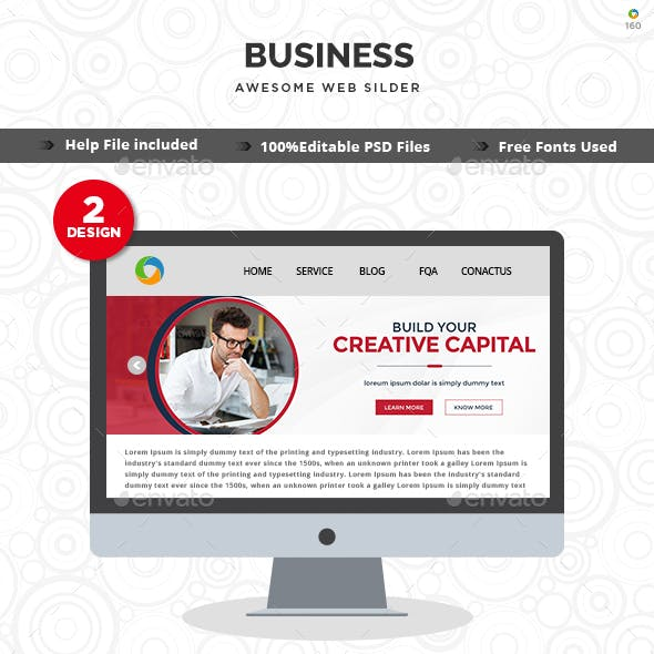 Business Slider Templates - 2 Designs