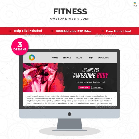 Fitness Sliders - 3 Designs