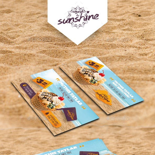 Ice Cream Business Card Templates