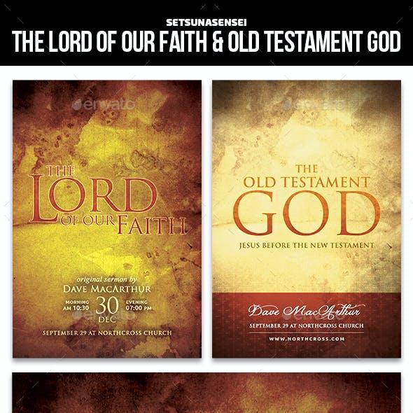 The Lord of Our Faith & Old Testament God Church Flyers