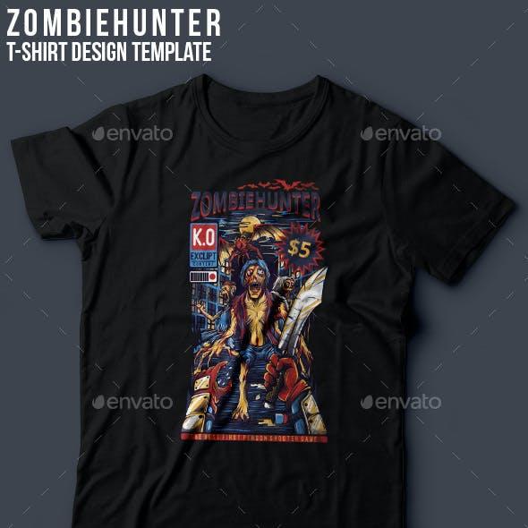 Zombiehunter T-Shirt Design