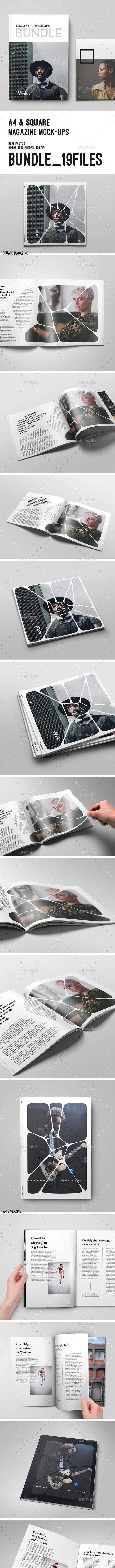Magazine Mock-Up Bundle - Magazines Print