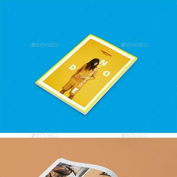Node Minimalist Magazine Design Template / Layout