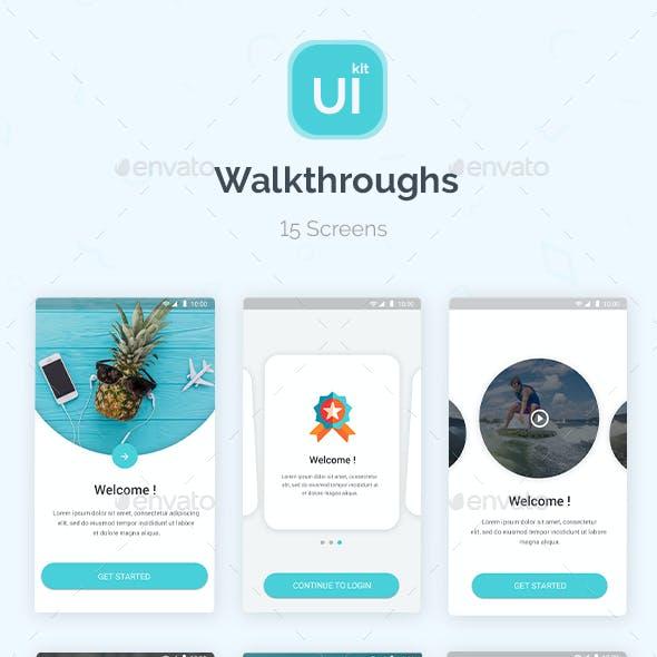 Material Design UI KIT - Walkthroughs