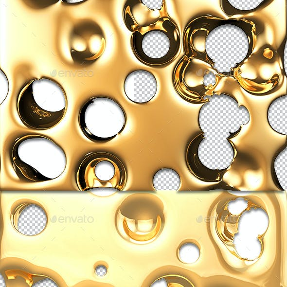Abstract Golden Background Overlap