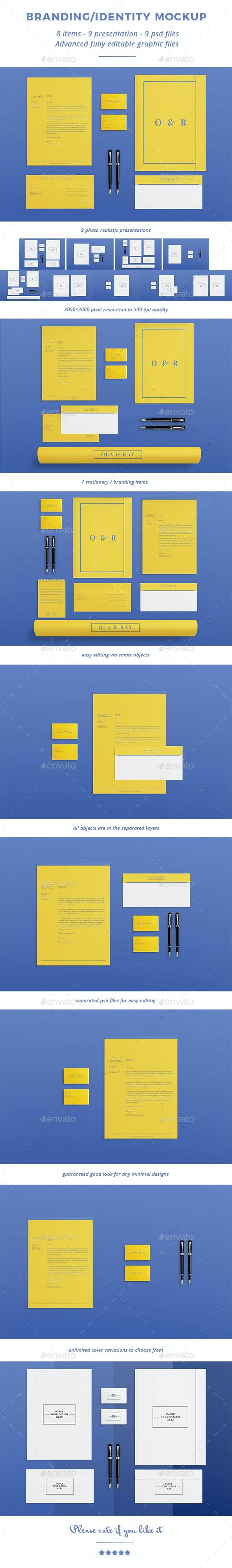 Branding / Identity Mock-up 1 - Stationery Print