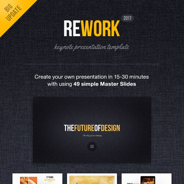 Rework Keynote Presentation Template