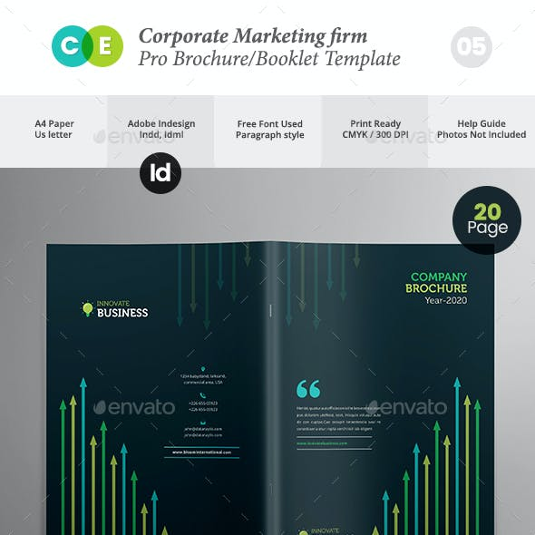 Corporate Marketing Firm Pro Brochure Template V05