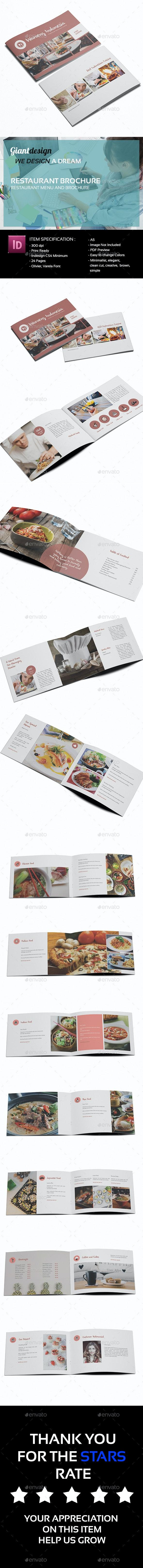 Restaurant Brochure - Brochures Print Templates