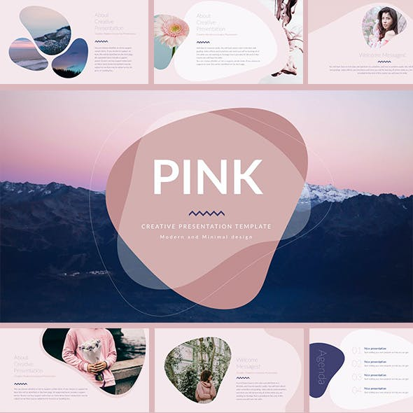 Pink - Minimal & Creative PowerPoint Template