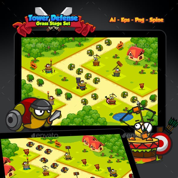Tower Defense Grass Pack
