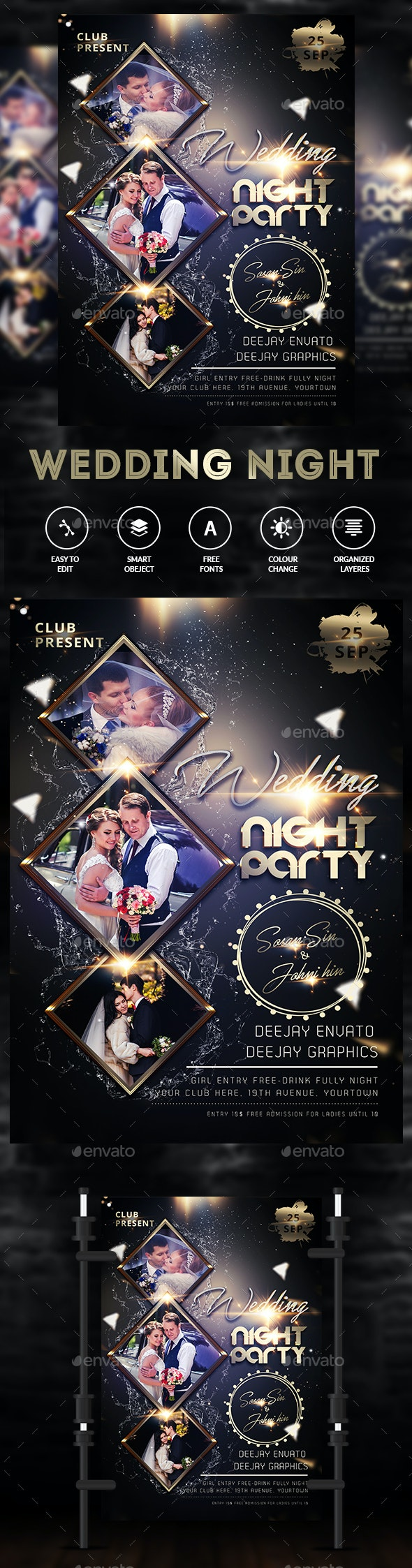 Wedding Party Invitation - Clubs & Parties Events