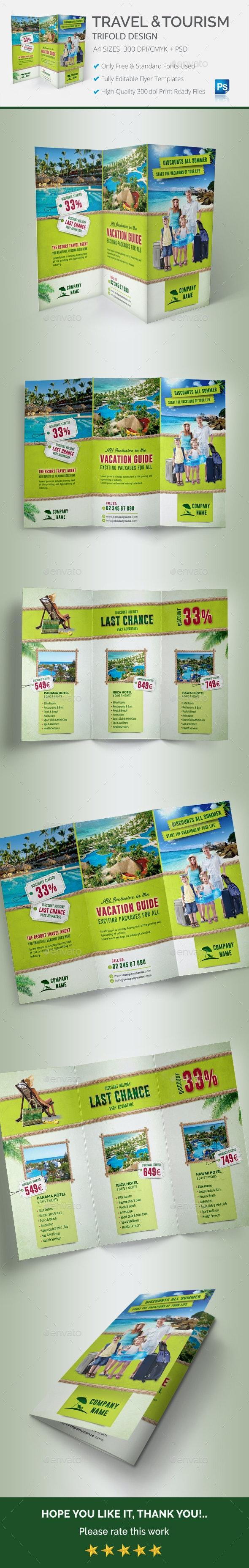Travel & Tourism Trifold - Brochures Print Templates
