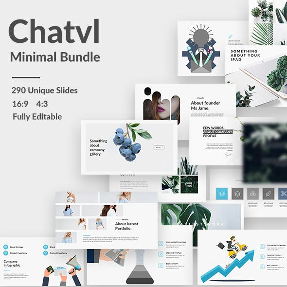 Chatvl Minimal Bundle Keynote Template