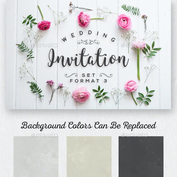 Wedding Invitation Set Format 3