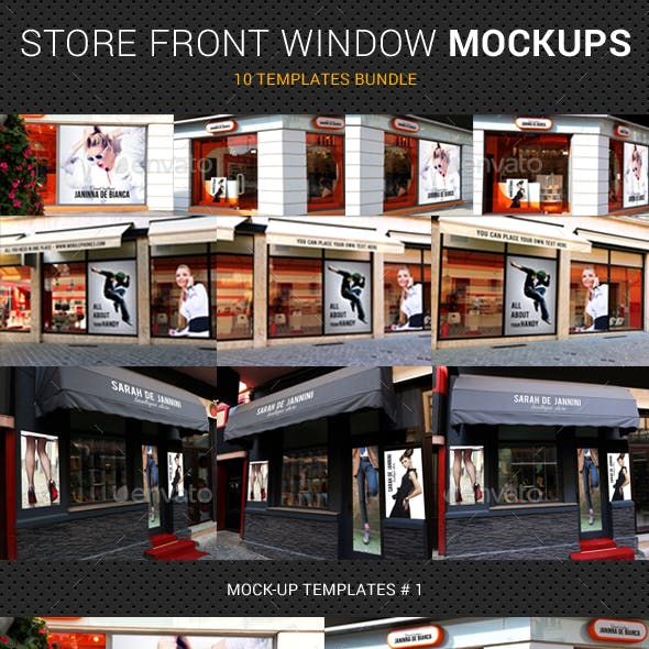 Store Front Window Mock-Up Bundle