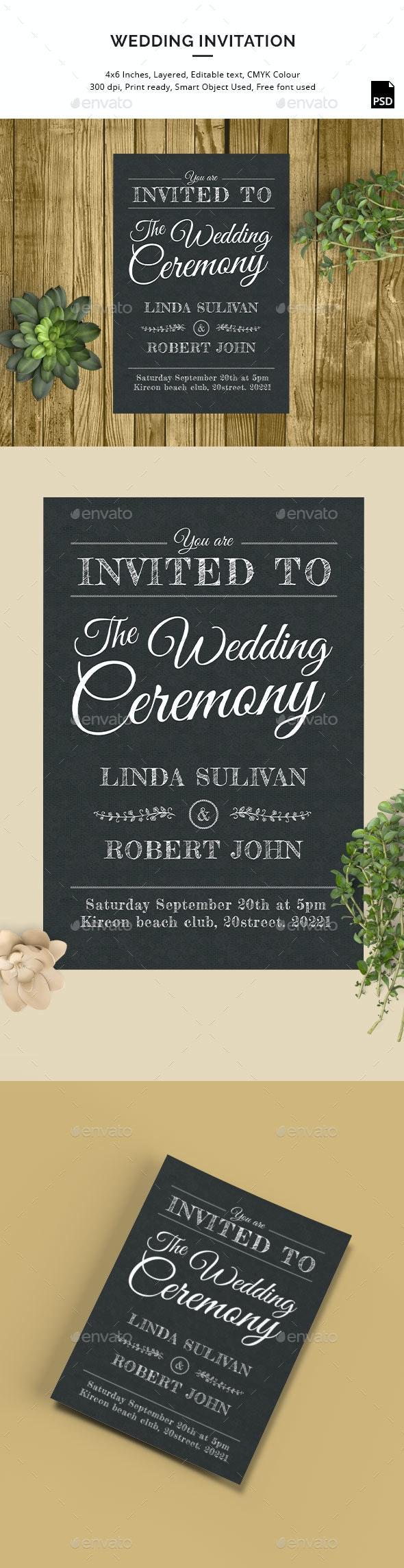 Wedding Invitation Template - Invitations Cards & Invites