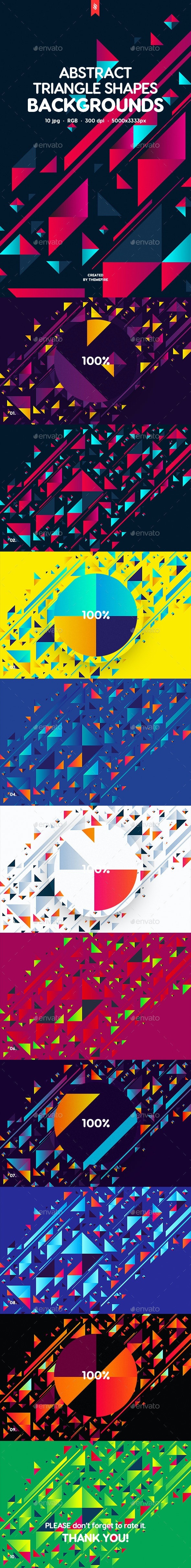 Abstract Triangle Shapes Backgrounds - Abstract Backgrounds